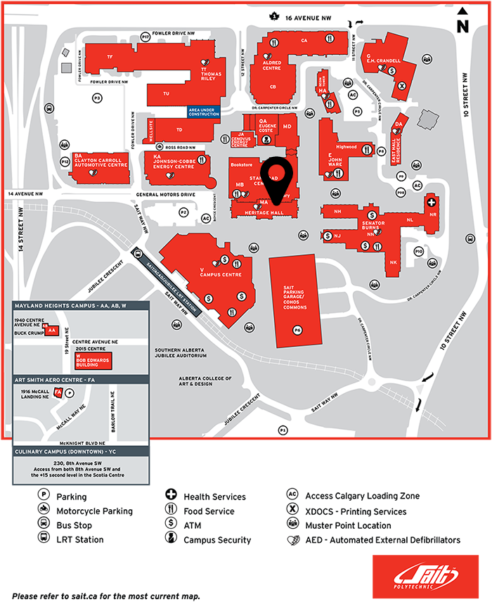 Full Map to Venue WordCamp Calgary 2015